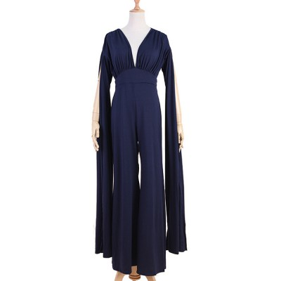 2019 Backless Jumpsuit For Lady, Women's Fashion Sexy Party Evening Bodysuits Rompers, Long Sleeve and Loose Trousers