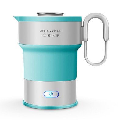Portable Electric Compressed Kettle, Food Grade Silicone Collapsible Electric Kettle for Travel