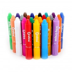 18 Pcs 24pcs Safe & Non-toxic Baby Rotating Crayons, Water Soluble Crayon Set Coloring Pen for Primary School Students & kindergarten students