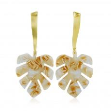 Ear-bob Zinc Alloy Material Ear Pendant Electroplating Process Maple Leaf Earring Decoration  Fashionable Earrings