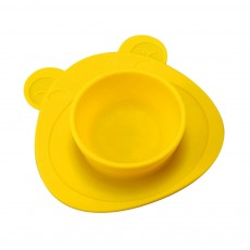 2 Pieces Silicone Suction Plates for Toddlers Food Feeding Tray for Babies and Kids Silica Gel Food Bowl