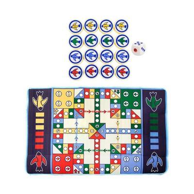 Flying Chess Carpet Desktop Large Flying Chess Game Pad, Chess Rug for Kid's Home Play, Soft Crawling Floor Mat for Children & Infants