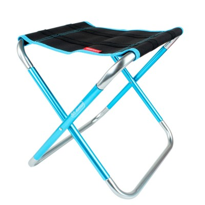 Outdoor Folding Chair Aluminum Alloy Lightweight Portable Fishing Barbecue Durable Train Chair Large Size Campstool