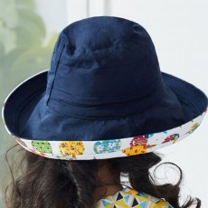 Double-faced Bucket Sun Hat for Children Kids, Summer Spring Outdoor Beach Sun Hat Unisex Cap for Girls Boys