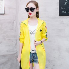 Summer Sun-proof Coat for Women, Mid-Long Beach Outwear Thin Breathable Cardigan for Sun Coat