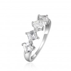 Delicate Creative Diamond Ring, Japanese and Korean Popular New S925 Zircon Ring with Simple Character