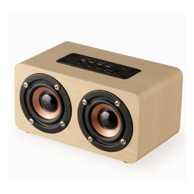 Outdoor Wood Pattern Wireless Bluetooth Speaker Portable Phone Computer Retro Radio Audio For Car Subwoofer Dual Speaker Support TF card