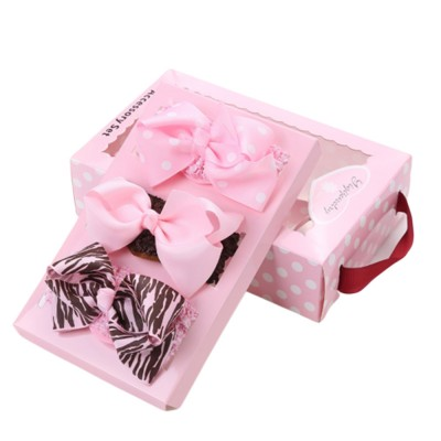 Children's Hair Band Gift Set Crown Fashion Exquisite Elasticity Bowknot Headdress Flower Hair Accessories Set