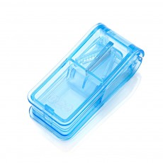 Practical Pill Box Medicine Cutting Device For Elderly Convenient Dispensing Transparent Portable Plastic Drug Storage