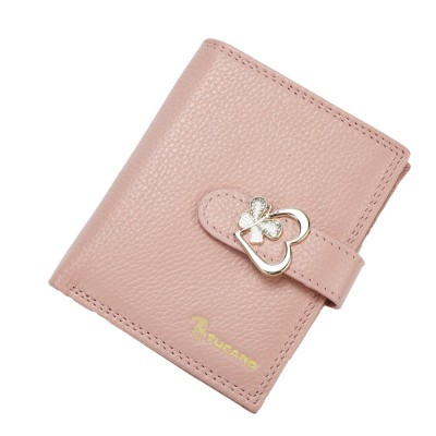 Fashion Women Wallet Girl Mini Cowhide Short Coin Leather Bow Vertical And Horizontal Purse Credit Card Holder Organizer Pocket Classic Solid 2 Fold Type