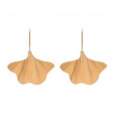 Minimalist Alloy Gold Ginkgo Biloba Leaf Simple Folded Female Hammered Creative Stud Earrings Multi Layer Acrylic Bohemian Fashion Jewellery