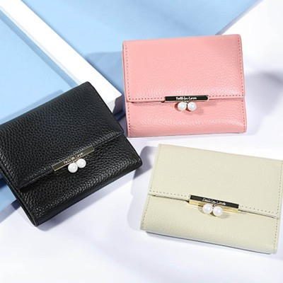 2019 New Designed Women Purse New Designed INS Purse Short-style Fresh Folding Purse for Women Lady Girl