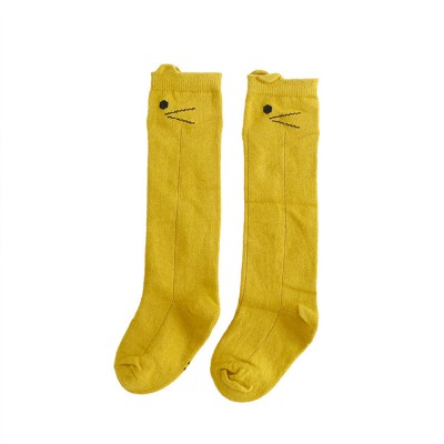 Baby Stockings for 0-3 Years Old Gril, Cute Appearance Pure Color Optional Cotton Fabric Breathable and Skin-friendly Socks