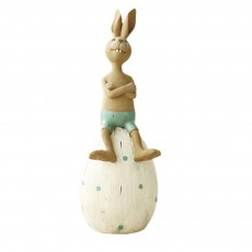 Cute Cartoon Rabbit Egg Carrot Model Resin Saving Pot Creative Bunny Easter's Day Table Ornament Decoration