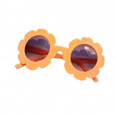 Baby Kids Vintage Flower Round Anti-UV Sunglasses Colorful Cute Eyewear for Party Photography Outdoor Beach