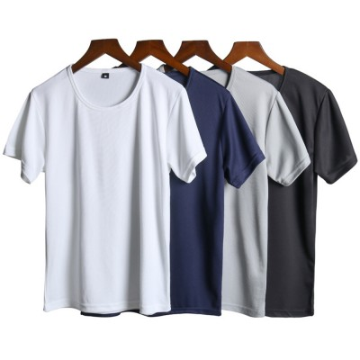 New Men's Short Sleeve T-shirt in Summer of 2019 Creative Waterproof and Antifouling Trend T-shirt
