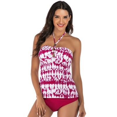 Fancy Sexy Painting Separates Adjustable Strap Swimsuit Bikini Stylish Triangle Swim Briefs Ladies Bikini