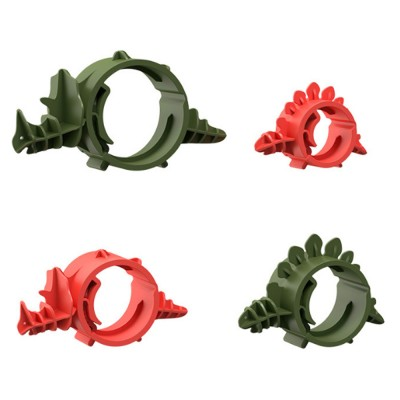 4PCS Cute Dinosaur Cord Organizer Adjustable PA Cable Wire Storage for Home, Office, Travel