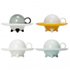 UFO Shape Water Cup Set Innovative Safe Borosilicate Glass Mug Coffee Cup Birthday Gift Daily Use