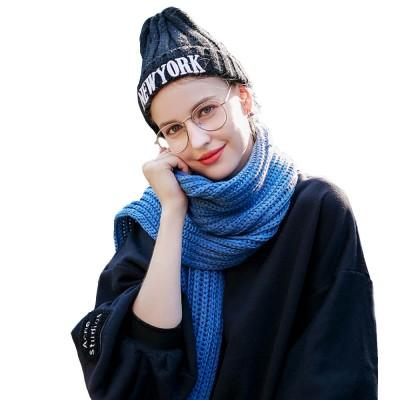New Wool Scarf Soft Tippet Longitudinal Knitting for Women Men Keep Warm Skin-friendly Muffler Winter