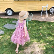 2019 Three-dimensional Lace Butterfly Dress for Girl Summer Party Dress Performance Costume & Butterfly Wings