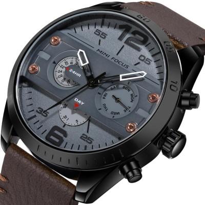 Mechanical Style Men's Quartz Watch Waterproof Businessman Watch Fashion Accessory 3 Dial Plates 6 Pointers Wrist Watch