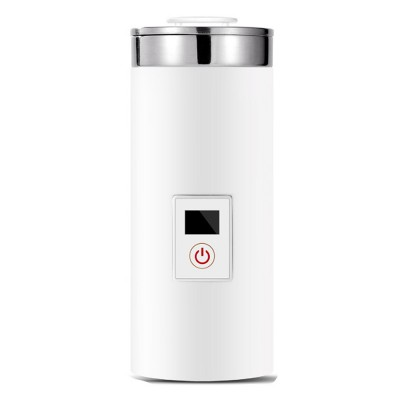 Portable Electric Kettle Cup Stainless Steel Water Boiler Durable Silicone Ring One Key Operation Coffee Milk Heating Container