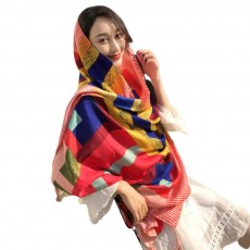 Summer cotton and linen ethnic wind tourism scarf, Holiday sunscreen scarf, Lady's Air Conditioning Shawl