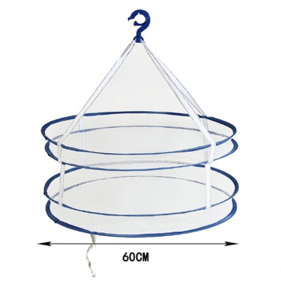 Foldable Drying Basket Hanging Net Retractable Drying Rack for Clothes, Underwear, Bra, Socks, Sweaters, Single, Double-Layer Drying Basket Net