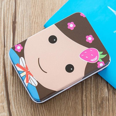 Cute Carton Painting Portable Mini Tinplate Storage Box, Breaking-proof Rust-proof Iron Jewelry Candy Small Object Storing Case