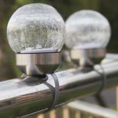 2pcs Solar-Powered Garden LED Light Environmental & Power-Saving Glass Crystal Ball Light Innovative Ambient Light Decoration for Outdoor Yard Lawn Ground