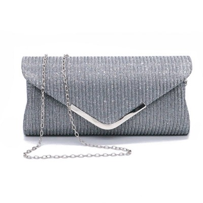 Fancy Elegance Flash Ladies Shoulder Evening Bag Soft Polyester Socialite Hand Bag Cosmetic for Women