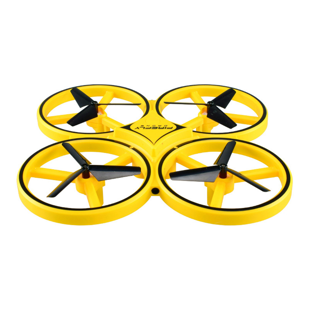 Children's Vehicle Remote Control Aircraft UFO Watch Intelligent Induction Shock Resistance Recharging Four-axis Aircraft Drone Toy