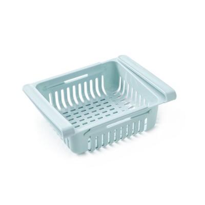 Household Daily Use PP Drawer Fridge Box Refrigerator Storage Lock Vegetable Fruit Asphalt Shelf
