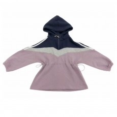 Stylish Simple Sweater Dress Hooded Design Clothes with Smooth Zipper for Girl