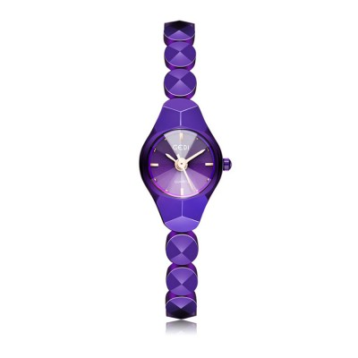 Shiny Hand Watch Bracelet with High Quality Dial Tungsten Steel Fashionable Quartz Wrist Watch for Ladies