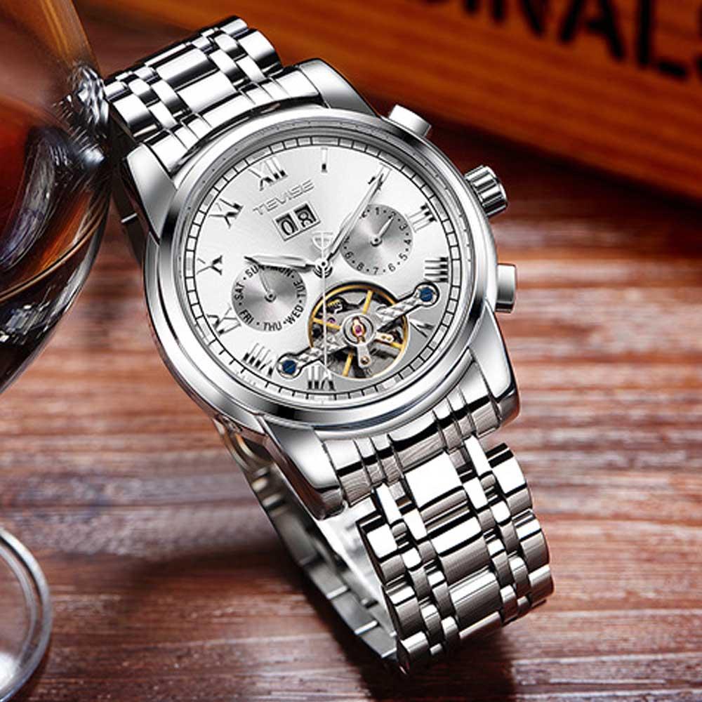 Men's Mechanical Watches Tourbillon Businessman Wrist Watch All Automatic Mechanical Watch 2019