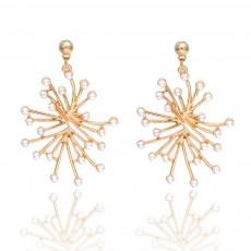 Trendy Alloy Snowflake Earrings Beautiful Ear Decoration Sparkling Stud Earring for Women Girls