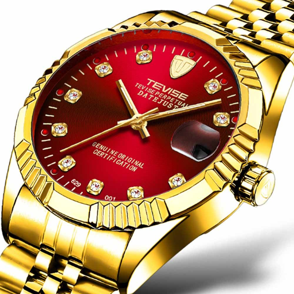 Waterproof Businessman Mechanical Watch with Calendar All Automatic Mechanical Men's Wrist Watch 2019