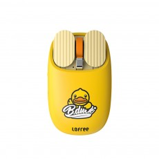 LOFREE Dual Mode Yellow Duck Bluetooth Mouse with 5-level Adjustable DPI Up to 3600, Yellow Duck Cartoon Wireless Mouse