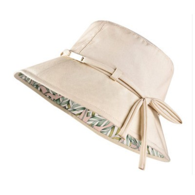 Outdoor Foldable Windproof Sunbonnet for Travelling Casual Sunhat for Lady Summer All-match Sun Helmet for Women Sunblock Bucket Hat