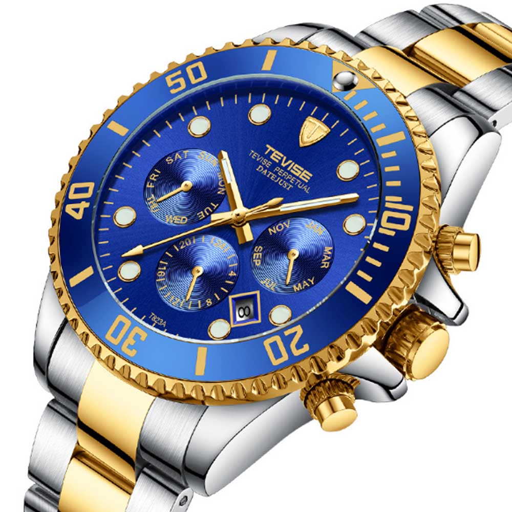 Night Luminous Mechanical Men's Watch Multifunctional Waterproof Wrist Watch for Businessman