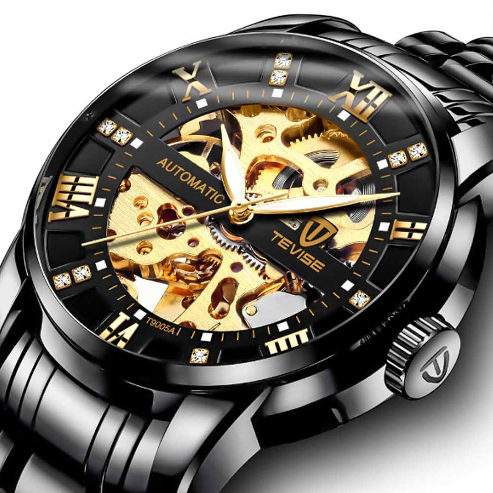 Automatic Mechanical Men's Watch for Business, Daily, Dating, Luxurious Fashion Businessman Watch with Waterproof