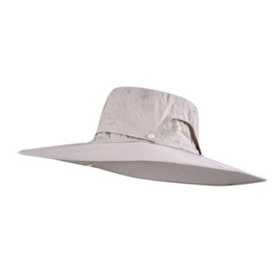 Outdoor Fishman's Hat Sunbonnet Polyester Material Enlarged Brim Sunhat Detachable Hat Top for Men Outside Activities Folding Topee Summer