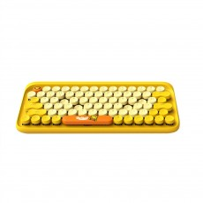 Dot Bluetooth Mechanical Keyboard with Retro Vintage Typewriter Style Keycaps Compatible with iOS, Android, Windows
