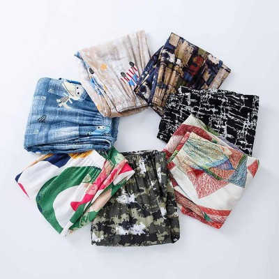 Parent-Child Anti-Mosquito Pants in Summer Bloomers for Children Beach Pants for Ladies