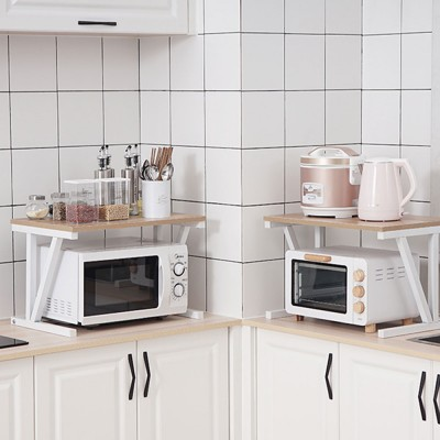 Double-layer Microwave Oven Shelf Multifunctional Rack Stand Cabinet Shelf Storage Organizer