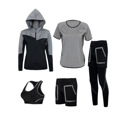 Large Size Fitness Clothes Loose Professional Yoga Suit Five-piece Suit for Gymnasium Sports Running in Autumn and Winter