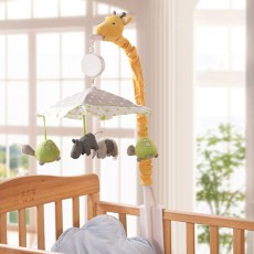 Giraffe Music Bed Bell Bedside Toys Flannel PP Material Cartoon Modeling Giraffe Pendant Healthy for Baby Rattles Soft Baby Mobiles