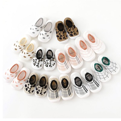 Children's Indoor Shoes Leopard Print Floor Socks 2020 Spring Summer Toddler Walking Sock Shoe